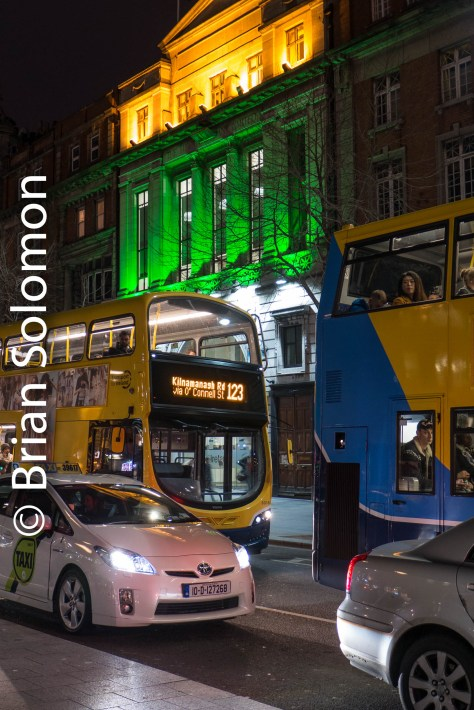 Dublin Bus carries fares on O'Connell Street. Check the website for detours on St. Patrick' Day, since this thoroughfare will be closed as part of the parade route.