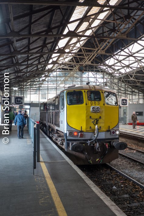 083 at Limerick under the train shed.