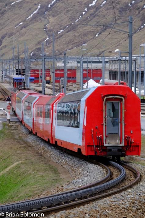 Looking toward Andermatt, Switzerland in April 2016.