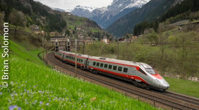 Italian Tilting Train at Gurtnellen—15 April 2016