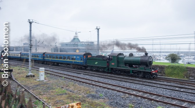 Steam on the move at Dún Laoghaire.