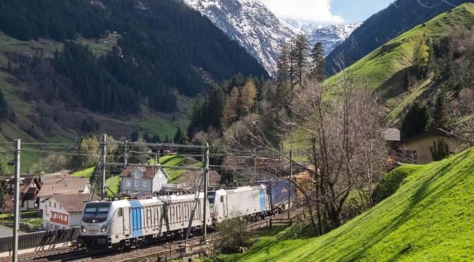 Gotthard Pass; Snapshot at Wassen: 14 April 2016