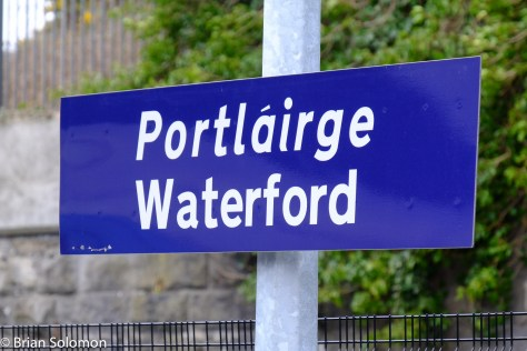 Irish Rail station sign.