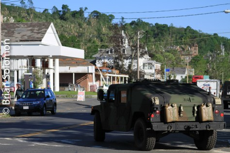 National Guard patrols Main Street Monson on June 3, 2011.