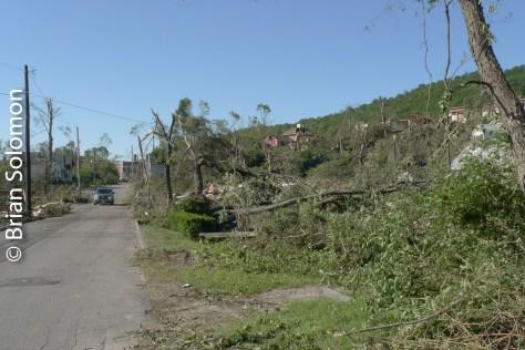 Destruction on Washington Street, Monson on June 3, 2011.