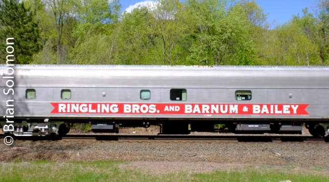 Ringling Brothers and Barnum & Bailey Circus Train on Washington Hill—May 16, 2016.