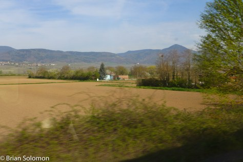 A rolling panorama of the French landscape.