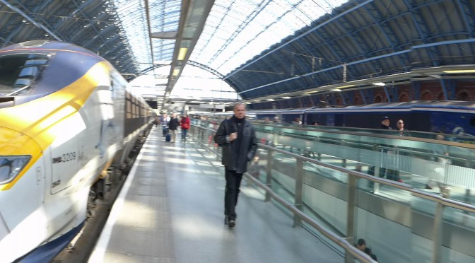 Eurostar to St. Pancras.