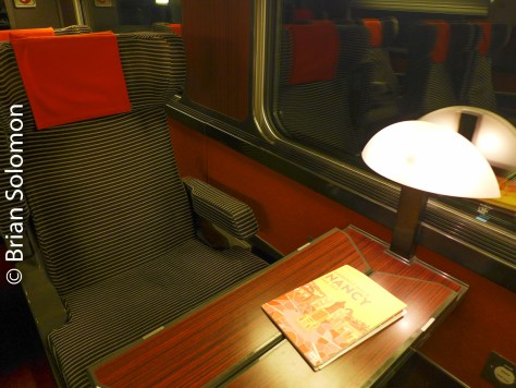 Typical Frist class seating on the TGV Duplex.