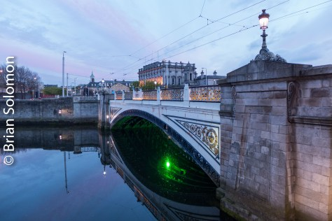 Sean Heuston Bridge (Kings Bridge) at sunset.