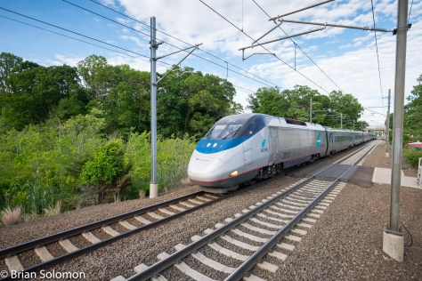 Amtrak Acela 2173 at Madison, Connecticut.