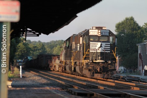 Norfolk Southern helpers at Latrobe, Pennsylvania on August 11, 2011.