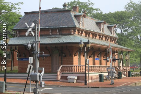 Former New Haven Railroad station at Windsor, Connecticut.