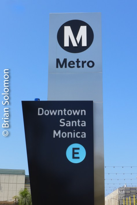 Clean new signs are a feature of the Expo Line extension.