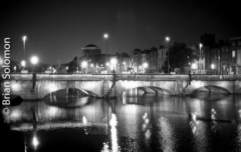 Grattan Bridge, Dublin. Ilford HP5.