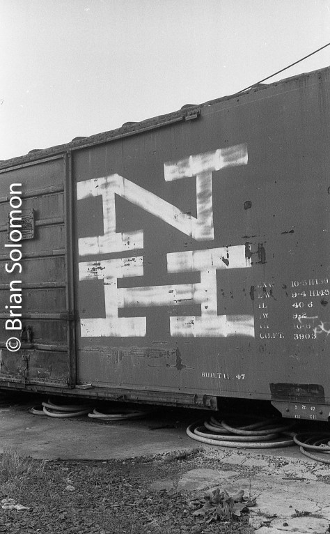 An old 40ft New Haven Railroad boxcar that still had its New Haven markings. A fascinating relic.