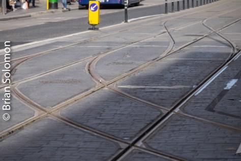 Some interesting trackage on Abbey Street. FujiFilm XT1 digital camera.