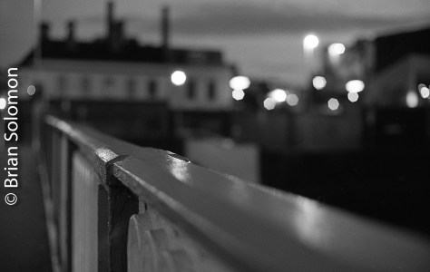 Rory O'More bridge over the River Liffey looking toward Guinness. Exposed at f1.4 for shallow depth of field.