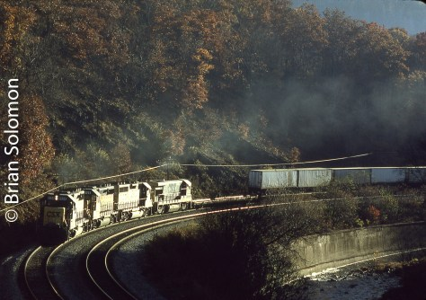 CSX near Falls Cut, Pennsylvania on October 25, 1993.