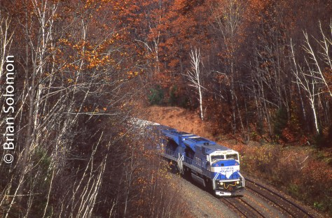 Conrail near Middlefield, Massachusetts on October 25, 1996.