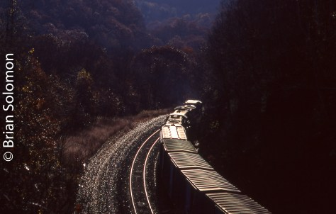 Conrail near Middlefield, Massachusetts on October 25, 1996.