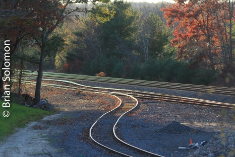 Old Boston & Albany yard at East Brookfield, Massachusetts on October 25, 2013.