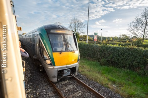 At Dromkeen, the special crossed an ICR on its way to Limerick.