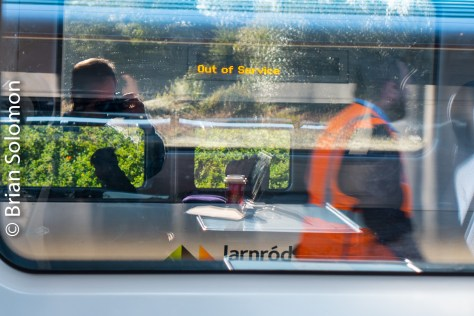 10:30am: Reflections at Limerick Junction. Lumix LX7 Photo.
