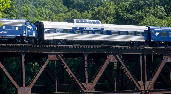 Pan Am's Wabash Dome Crosses the Connecticut.