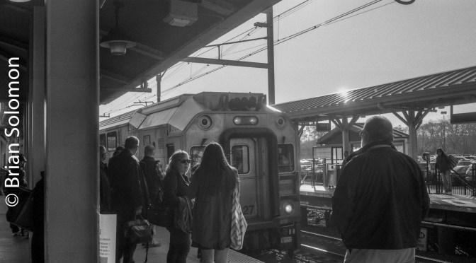 NJ Transit North Jersey Coast in Monochrome.