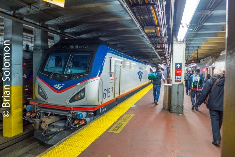 Amtrak ACS64 615 at New York's Pennsylvania Station. Lumix LX7 photo.