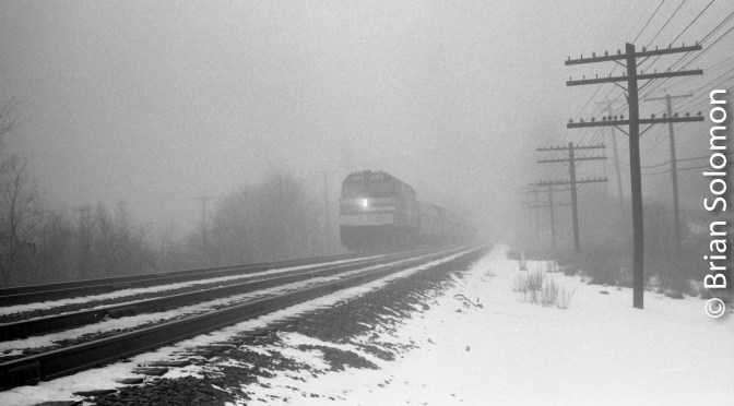 From the Mists of Time; Amtrak in the Fog.
