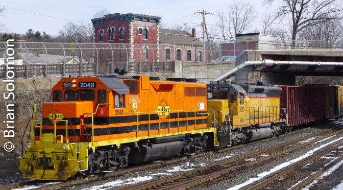 Clean Orange Locomotive—an Easy Catch.