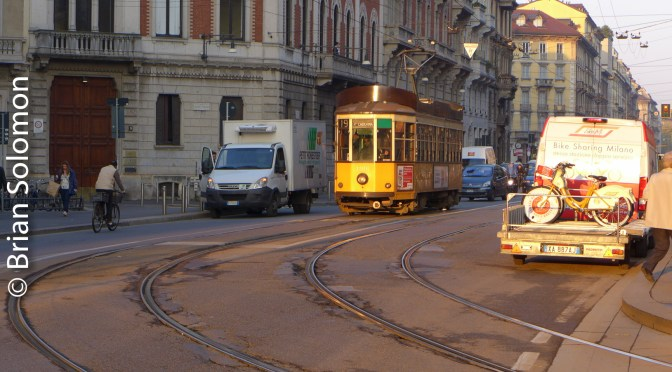 A Century-old American Streetcar Design that still works Italian Streets.