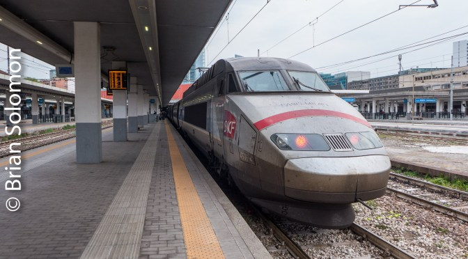 SNCF's TGV; Brussels to Milan