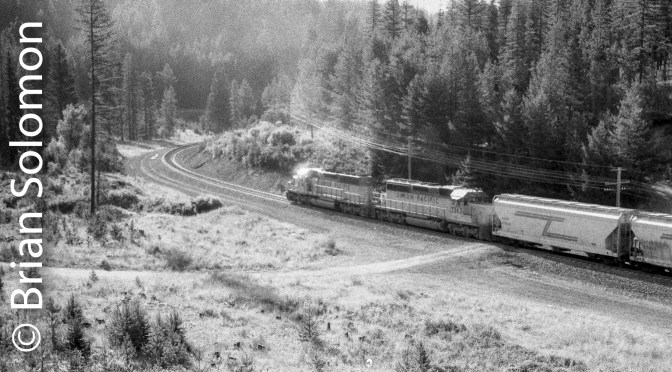 Processing Old Film; Union Pacific in the Blue Mountains.
