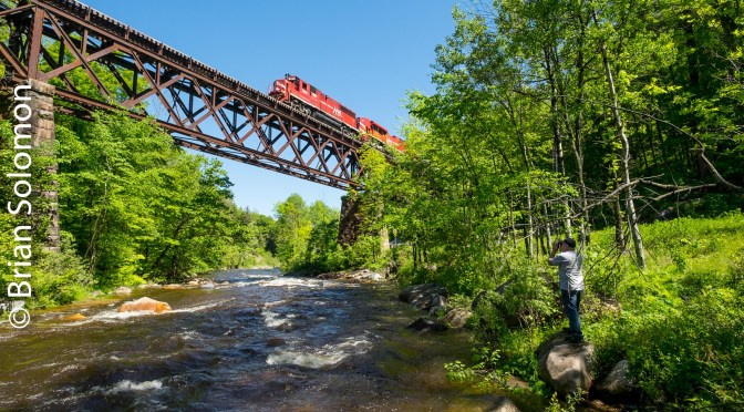 Vermont Rail System—Cuttingsville Trestle, June 2017.
