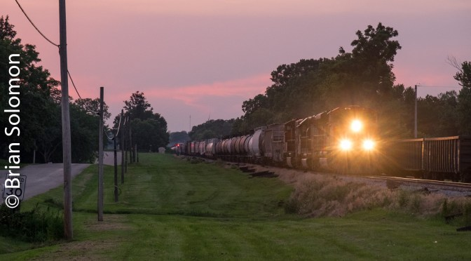 Surprise at Lena; Canadian National Monster Freight—How many cars??
