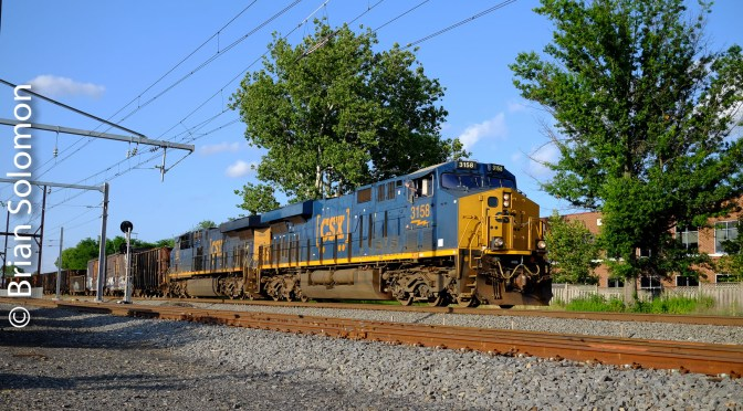 CSX on the Move at West Trenton, New Jersey.