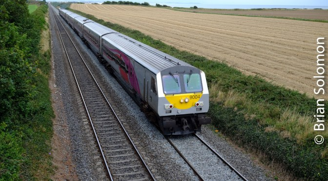 Coming and Going: The Belfast-Dublin Enterprise on the old Great Northern Line near Mosney