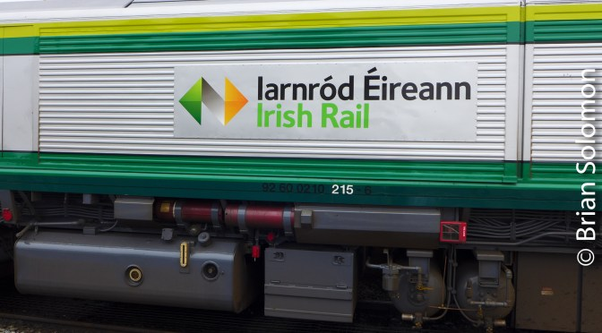 Up Close with Irish Rail 215 in Fresh Paint-Five New Photos.