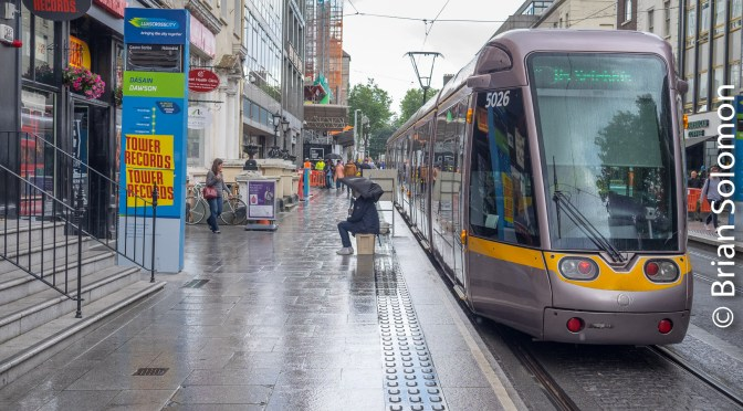 LUAS on Trial: Cross City Line test, finally! Ten Photos.
