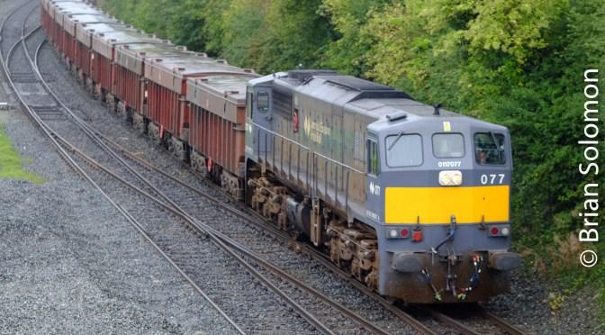 Telephoto versus Wide angle: Picturing Irish Rail's Tara Mines Run at Drogheda.