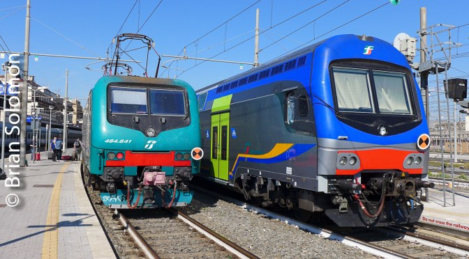 Rome: Nice Light and Colorful Trains.