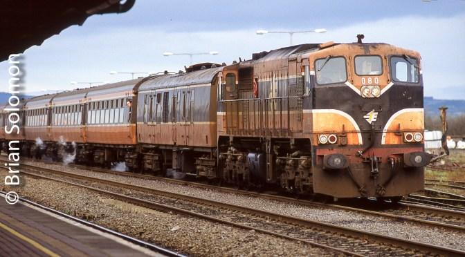 Irish Rail 080 Works the Scheduled Dublin-Tralee Passenger at Limerick Junction.
