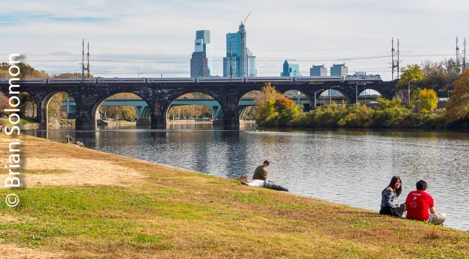 Amtrak Crosses the Schuylkill River—November 2017.