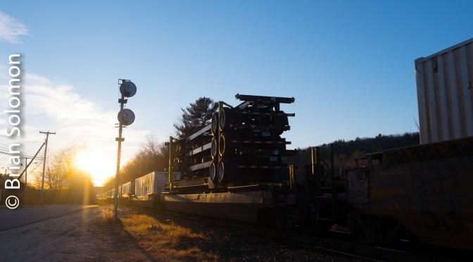 Searchlight Sunset at Athol, Massachusetts.