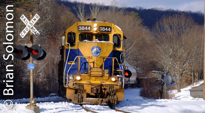 New England Central in the Snow.