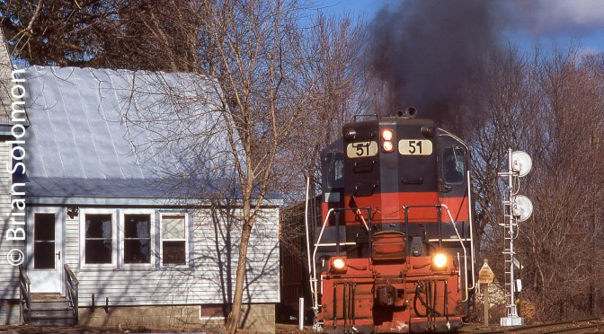 This Day 12 Years Ago—An old GP9 on the Move.
