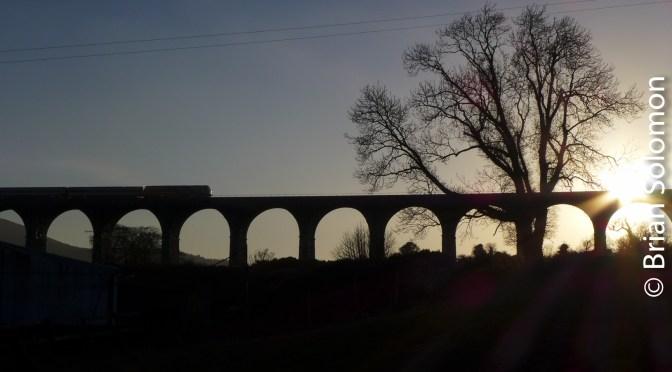 Sunset at Craigmore Viaduct.